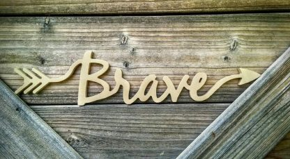 arrow word wood cutout
