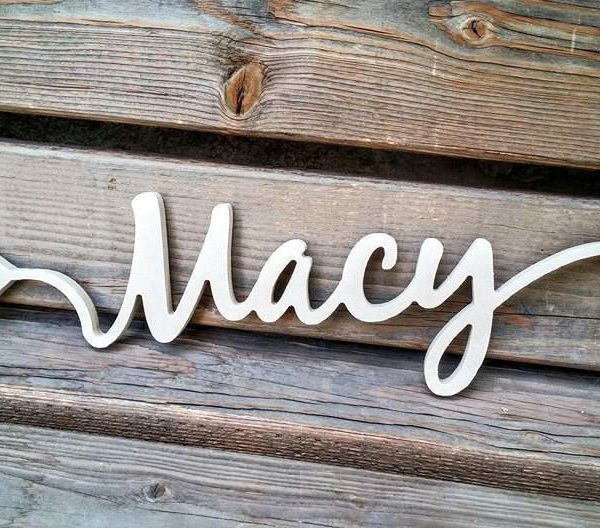 arrow word wood cutout Macy