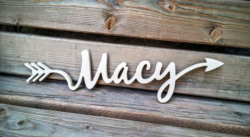 arrow word wood cutout Macy