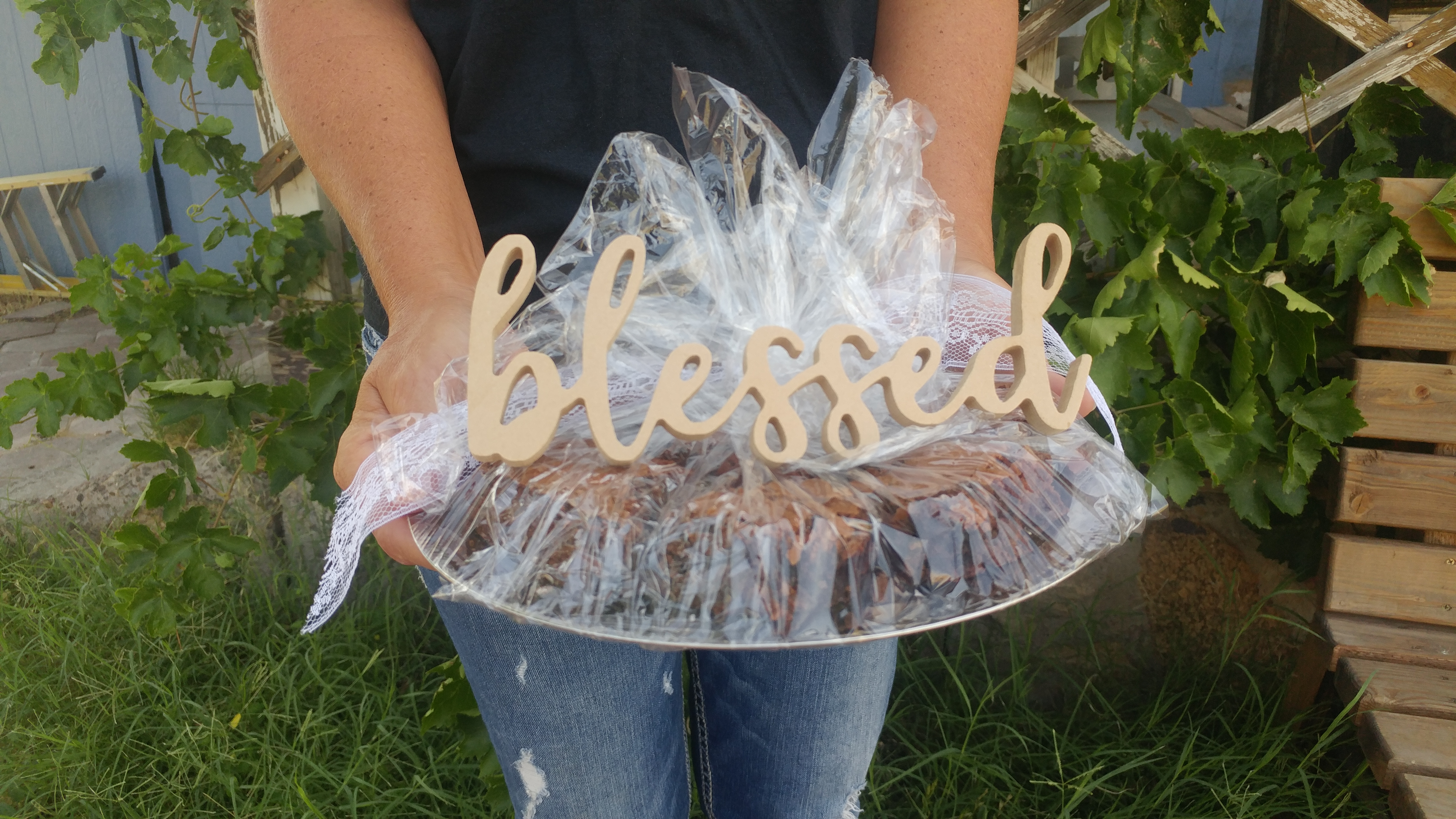 Wooden Word for Goodie Plate