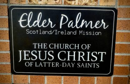 Giant Engraved Missionary Name Tag Sign