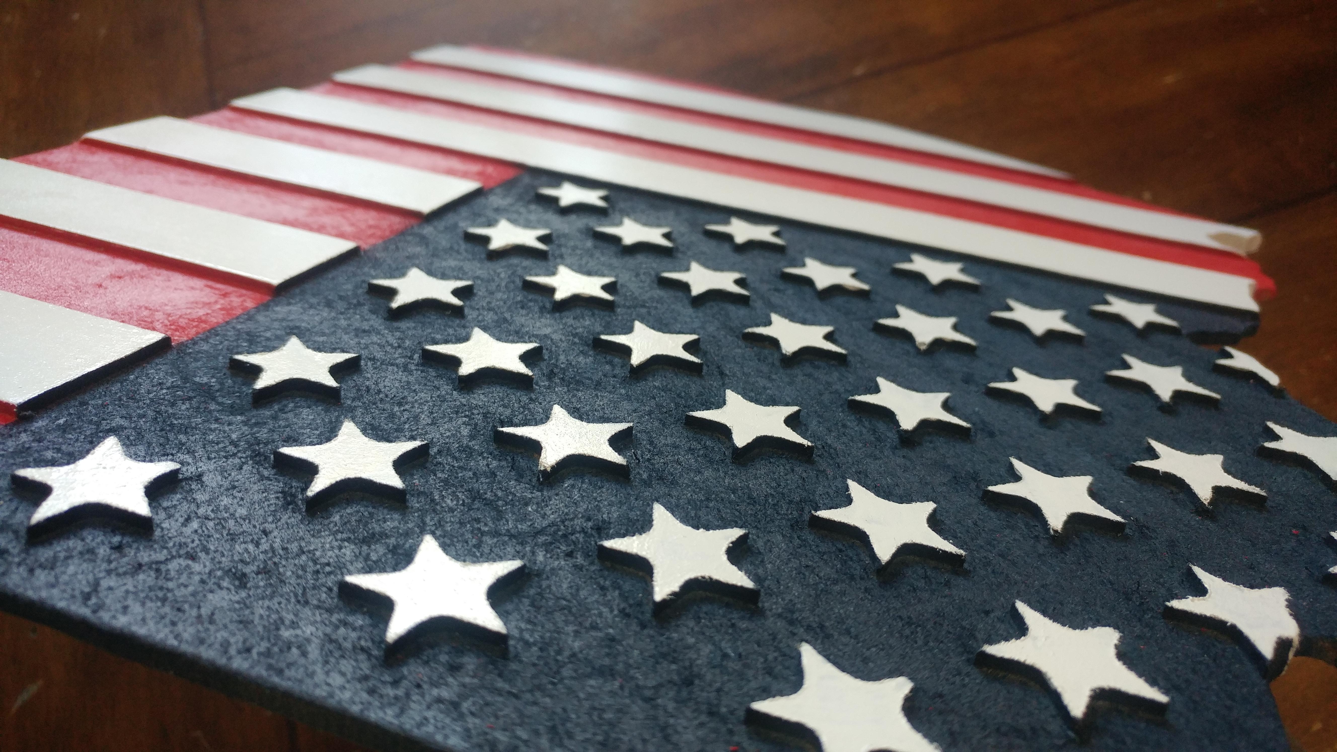 3D Engraved Patriotic State Sign