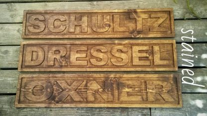 3d engraved name sign stained